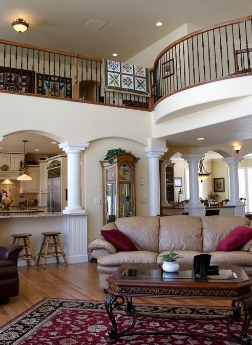 Coeur d 39 alene home construction north idaho home design for Living room balcony design