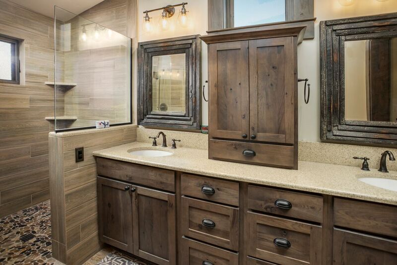 Master bathroom with open shower